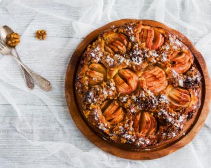 Image Tort de mere caramelizate