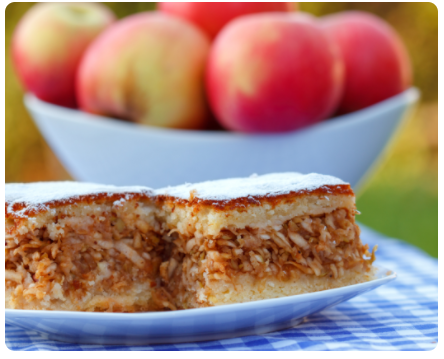 Image Prăjitură cu mere și morcov de post