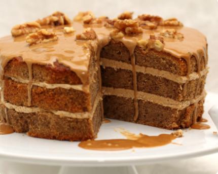 Image Prăjitură cu nucă și ciocolată