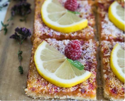 Image Prăjituri cu zmeură și lămâie