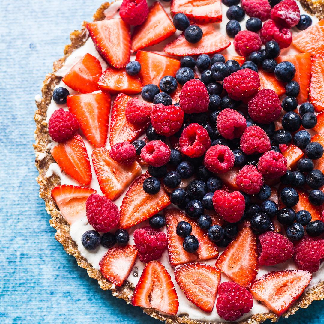 Image Tartă cu fructe și cremă de vanilie