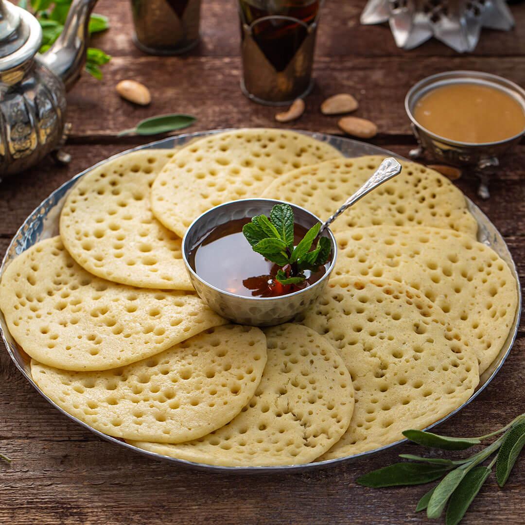 Image Baghrir, clătite marocane cu 1000 de găuri