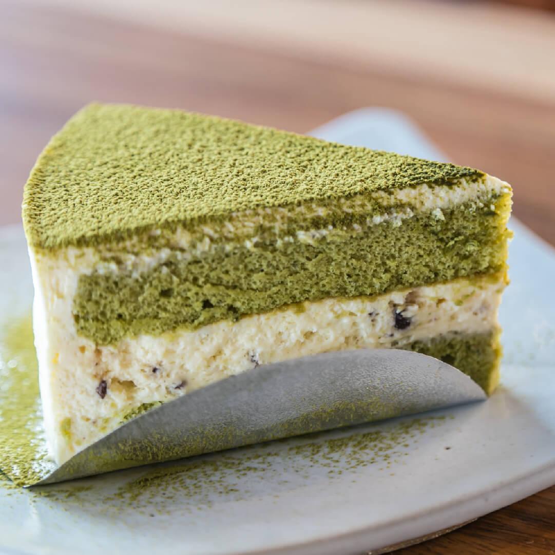 Image Prăjitură cu cocos și ceai verde