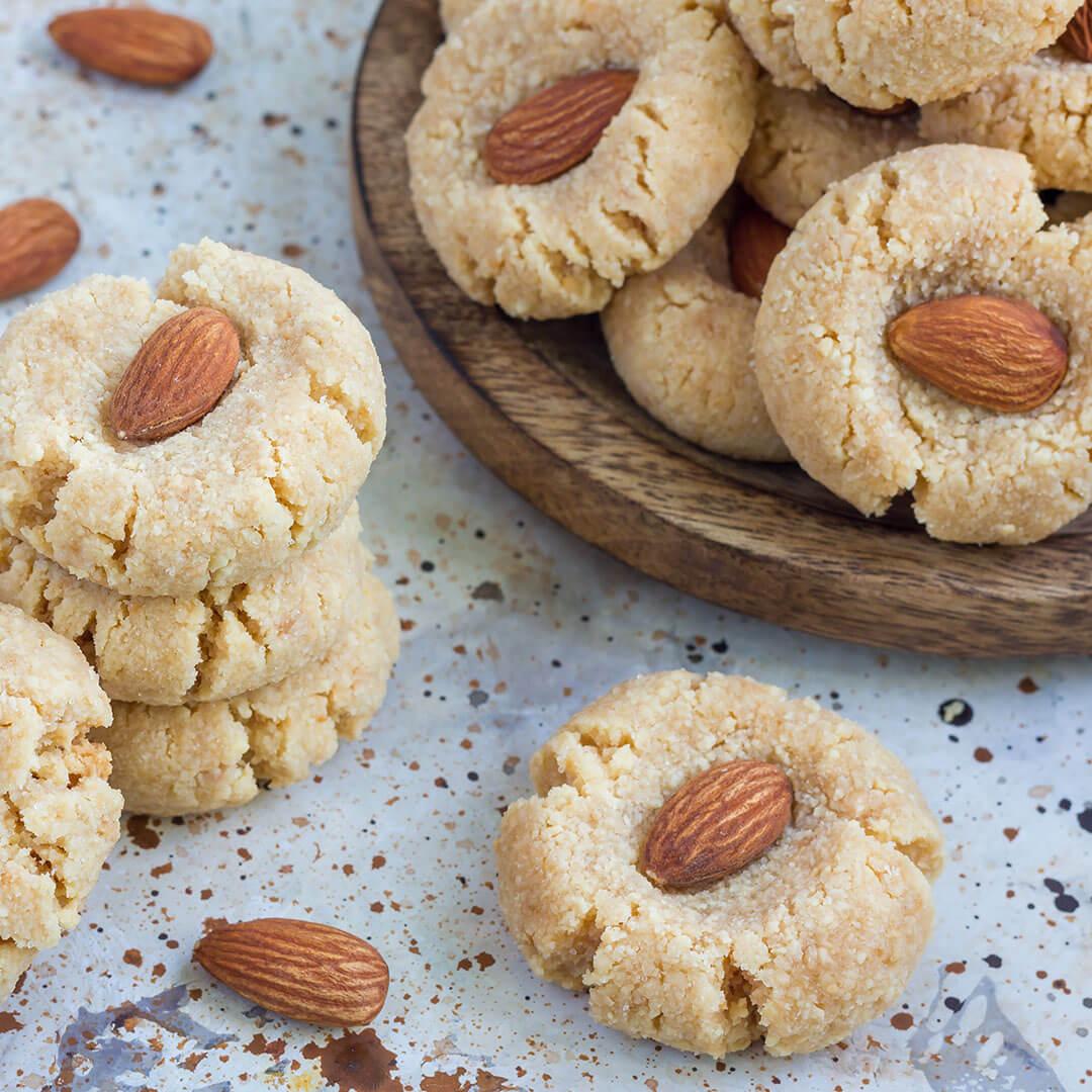 Image Biscuiți cu migdale, crocanți și gustoși