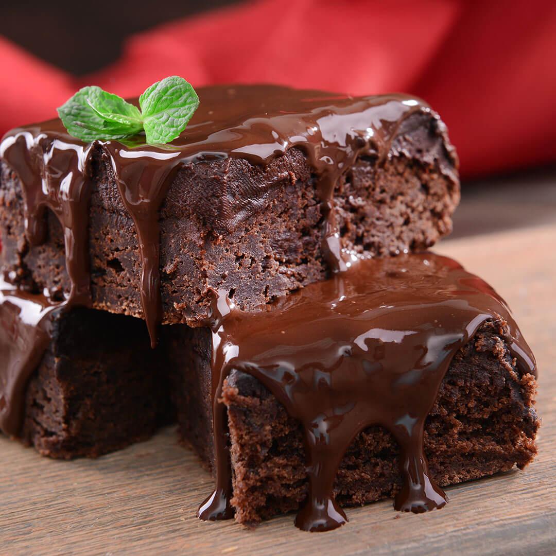Image Brownies cu bucăți de ciocolată