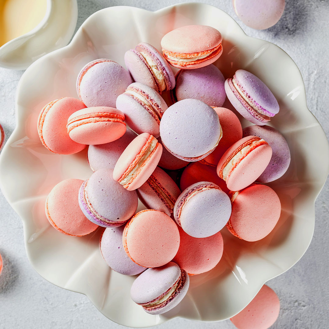 Image Macarons, bezele dulci și multicolore