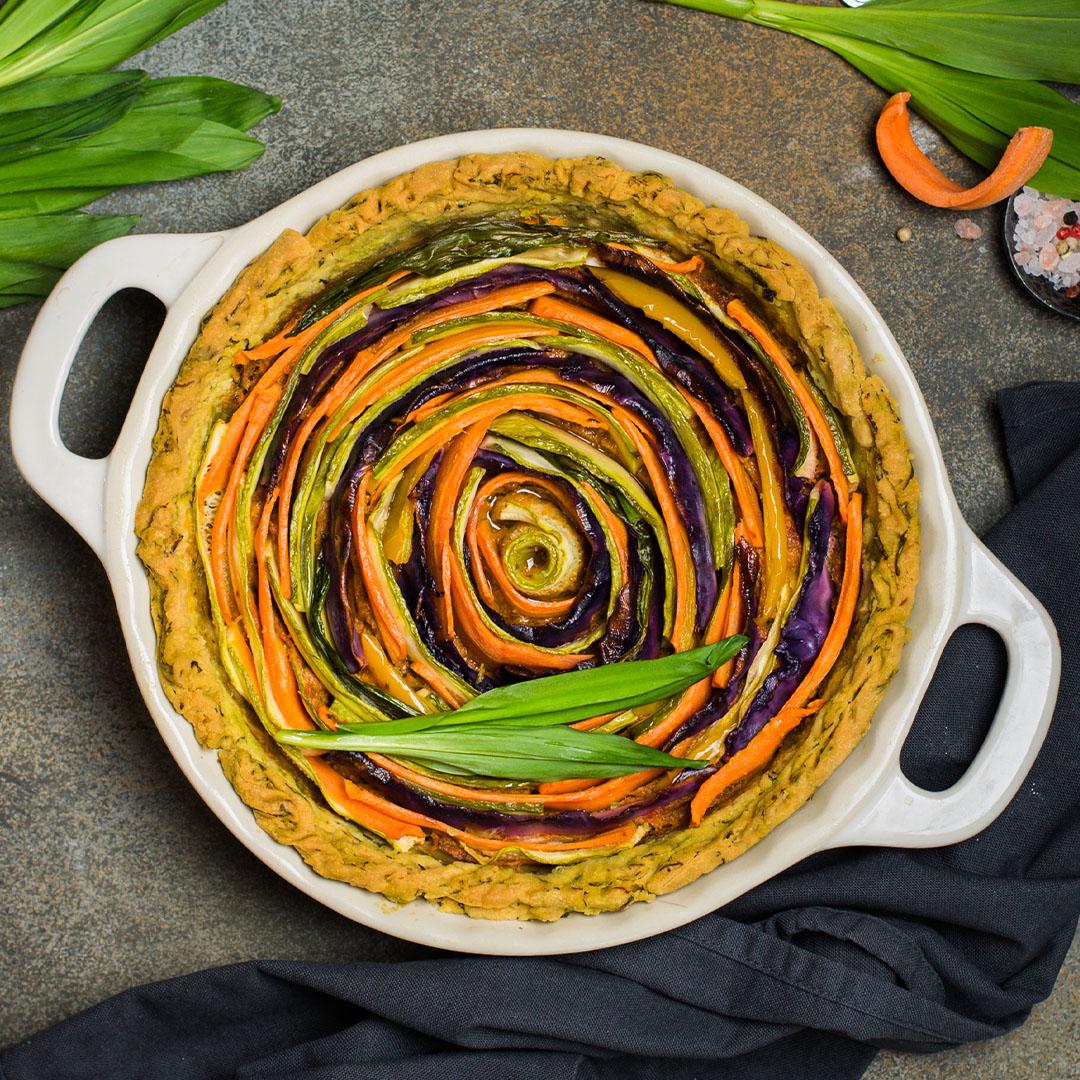 Image Tartă cu leurdă și mix de legume