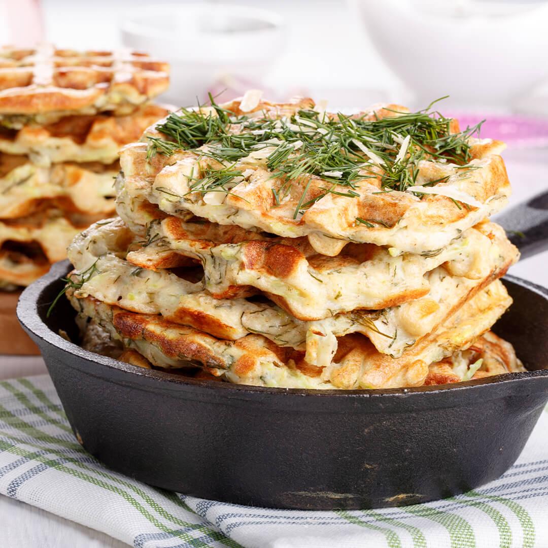 Image Gofre cu ierburi și brânză